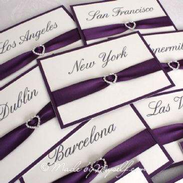 Ribbon Heart Table Name